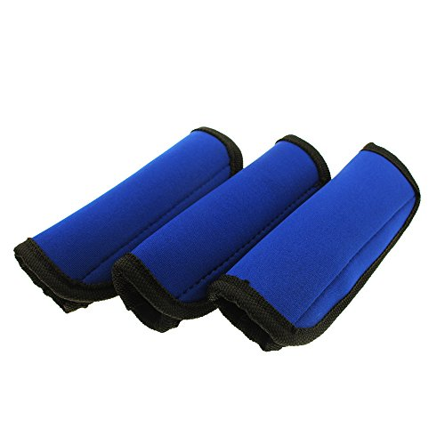 Gracallet® Pack of 3 Comfort Blue Neoprene Handle Wraps/Grip/Identifier for Travel Bag Luggage Suitcase ()