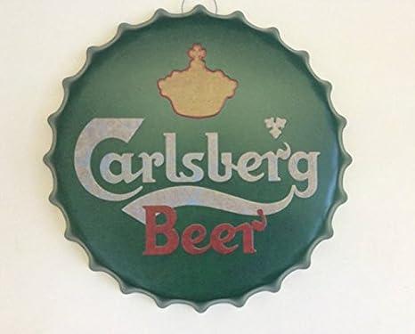 Home Delights Carlsberg Grande Retro con Texto en inglés de Pared ...