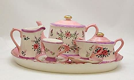 Amazoncom Childrens Tea Set Nantucket Garden Childrens Tea