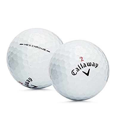 Callaway Hex Chrome Mint Quality Official Refinished Golf Balls (Pack 24)