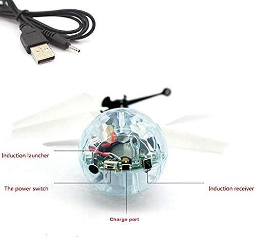 Disco Lichter POAO RC Fliegender Ball,Mini Flugzeug-Hubschruber,Infrarot Induktionshubschrauber Ball Spielzeug