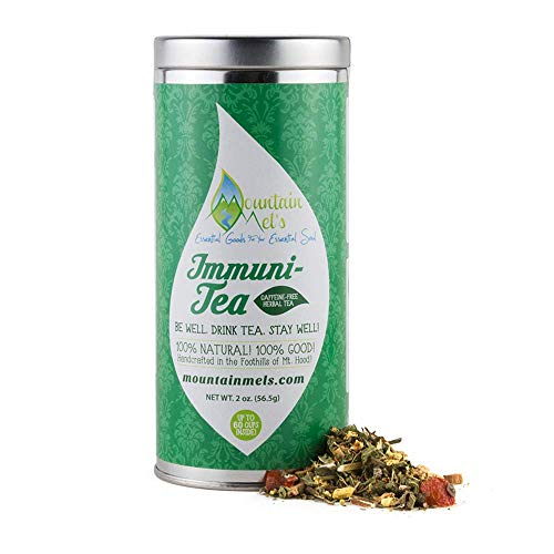~Immuni-Tea~ All Natural Loose Leaf Herbal Tea - Caffeine Free Tea for Boosting Your Immune System and promoting Overall Health, Up To 60 Cups of Decaf Tea Per Tin