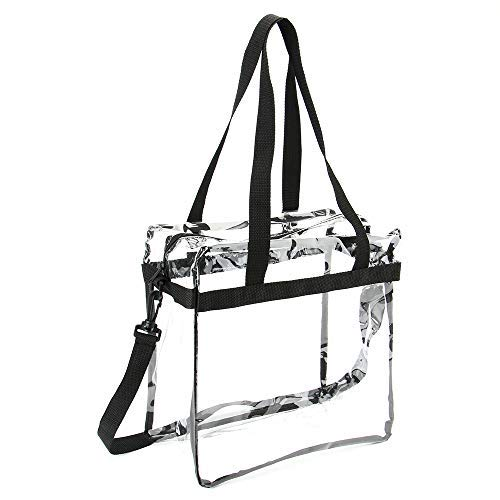 Jomparo 12''X12''X6'' Clear Tote Bag Stadium Approved Perfect for NCAA NFL PGA Work Sports Games