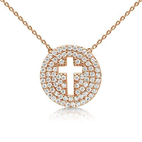 Women's Cross Rose Gold Necklace