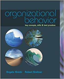 Book Organizational Behavior: Key Concepts, Skills & Best Practices with Student CD by Angelo Kinicki (2002-03-06)