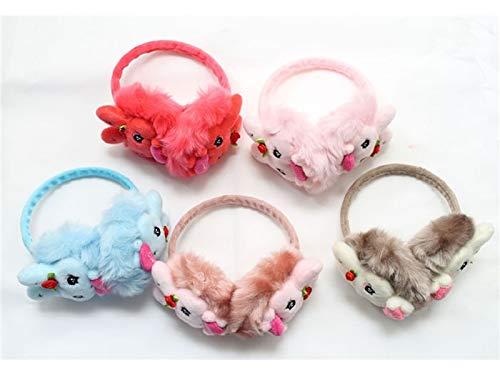Random Color Winter Warm Earmuffs Lovely Heart Muffs Warm Plush Ear Warmers Winter Outdoor Earmuffs for Children Cozy Earmuff