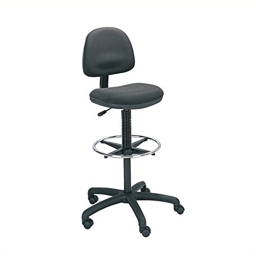 Safco Products 3401BL Precision Extended Height Chair with Footring (Additional options sold separately), Black