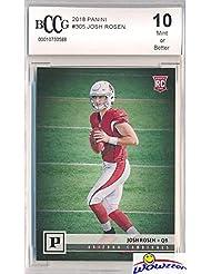 Josh Rosen 2018 Panini Football Canvas Short Print ROOKIE #305 Graded HIGH BECKETT 10 MINT! Arizona Cardinals Top NFL Draft Pick and Future Superstar HIGH GRADE ROOKIE! WOWZZER!