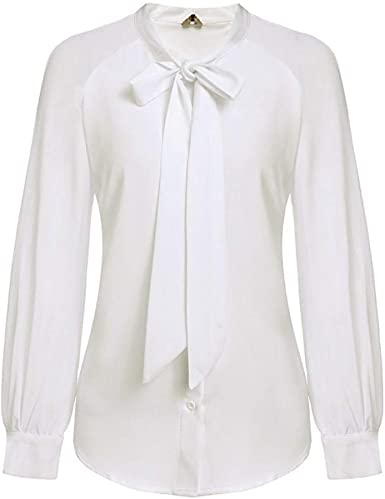 Bahoto Corbata De Lazo De Verano para Mujer Casual Camisa ...