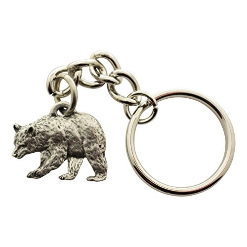 Sarah's Treats & Treasures Black Bear Keychain ~ Antiqued Pewter ~ Keychain