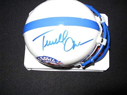 Terrell Owens 49Ers Cowboys Eagles Autographed Signed Pro Bowl Mini Helmet Psa