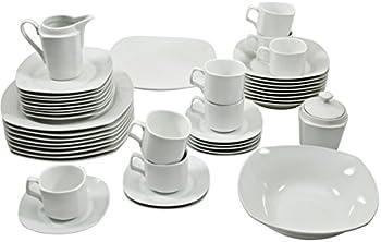 10 Strawberry Street Simply White 45-Pc. Square Dinnerware Set