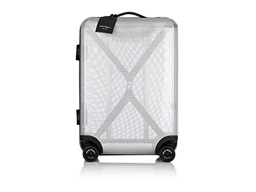 (Salvatore Ferragamo Cabin Four Wheeled Trolley Carry-on (One size, Grey Clear))