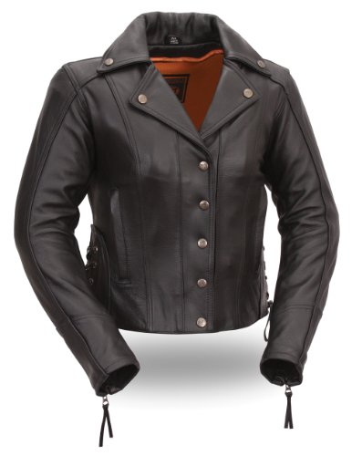 First Classics Women's Updated Leather Motorcycle Jacket - 5X