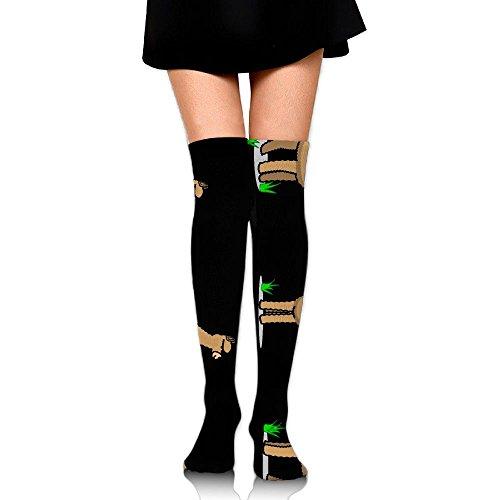 RobotDayUpUP Cartoon Llama Alpaca Womens Long Socks,cute Girls Skirt Stockings Knee Thigh Socks For Running Soccer Sports Dance Yoga Cycling Hiking Outdoor