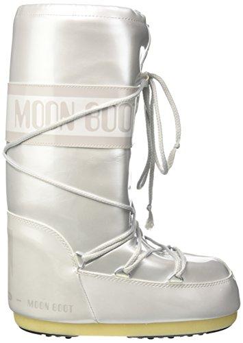 Bianco Stivali Vinil boot bianco Met Donna 002 Neve Da Moon wZa1Cqx