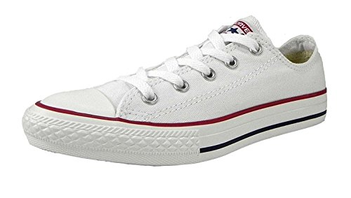 Converse Boys/Girls All Star Low Optical White Kids/Youths Shoes 3J256 Size 2.0 (White All Shoes Star Girls For)