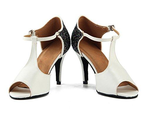 Donna MGM Heel Moderno White Joymod Jazz Bianco e 5cm 35 8 IIqwg76x1