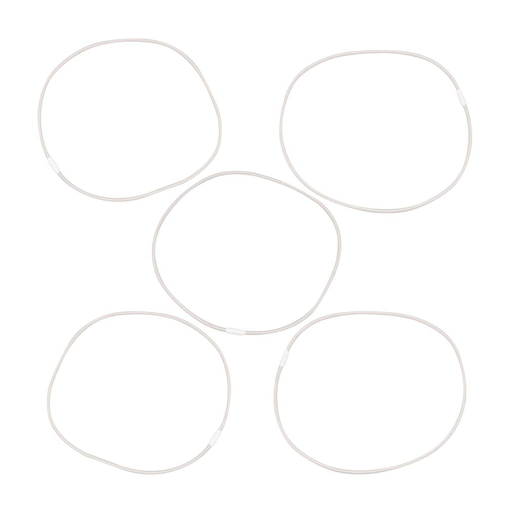5 fasce elastiche di ricambio per supporto microfono U87 colore grigio Bqlzr