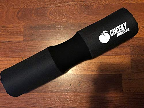 Cheeky Fitness Co. Zero Slip Velcro Squat & Hip Thrust Barbell Pad, Padded Foam Booty Builder Cushion for Hip Thruster, Squats & Weightlifting