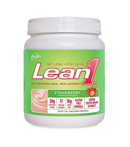 Lean1 Strawberry - LEAN 1 STRAWBERRY 10 Servings, 1.13 lbs.