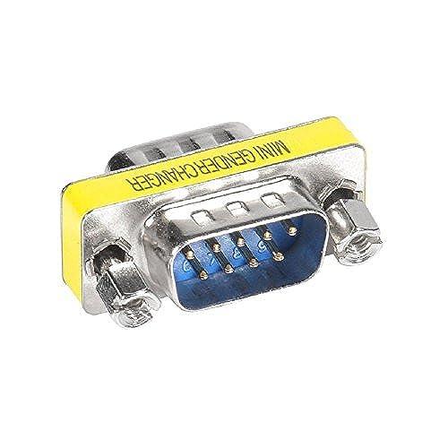 Top-Longer Gender Changers 9 Pin DB9 Female To Female//Male Mini Coupler Adapter