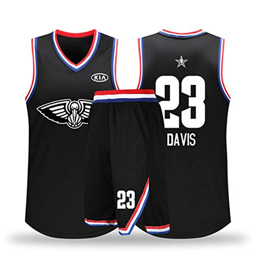 (Men's All-Star Basketball Jersey, Short Sleeve Officially Licensed Team,Reversible Workout Jersey, Basketball Top for Men and Boys,Professional Basketball uniform-23number-S)