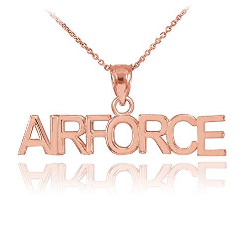 Petits Merveilles D'amour - 10 ct en or rose 471/1000 AIR FORCE Collier Pendentif