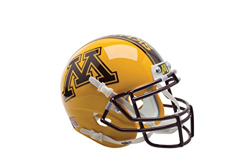 NCAA Minnesota Golden Gophers Gold Authentic Helmet, One Size by Schutt