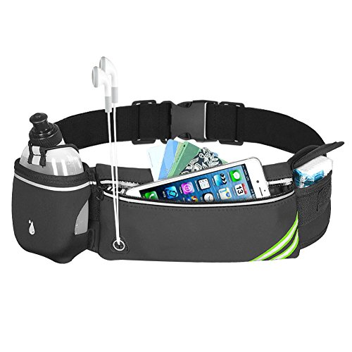 CUH Running Hydration Belt with a BPA Free 10oz Water Bottle Waist Pack Fits Most Smartphones iPhone 8 for Travelling Cycling Hiking