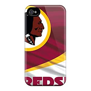 Scratch Protection Hard Cell-phone Case For Iphone 4/4s (Uok18099KKCt) Allow Personal Design Trendy Washington Redskins Image