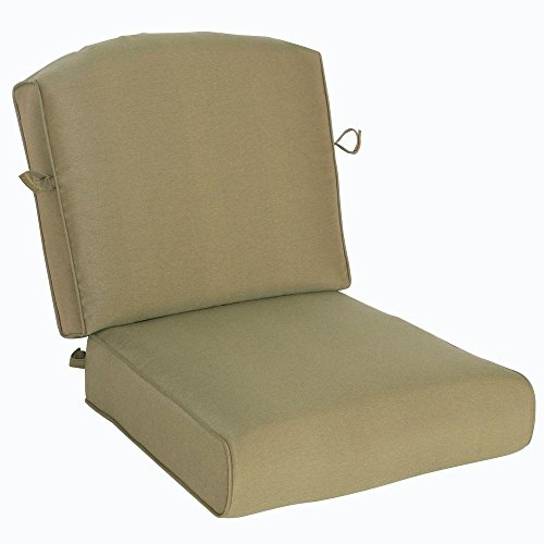 Edington Lounge Chair Replacement Seat and Back Cushion Polyester-fill (Hampton Bay Wicker Chair)