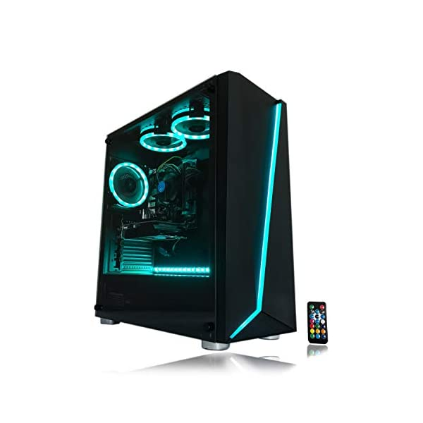 Gaming PC Desktop Computer Intel i5 3.10GHz,8GB Ram,1TB Hard Drive,Windows 10 pro,WiFi Ready,Video Card Nvidia GTX 650 1GB, 3 RGB Fans with Remote 6
