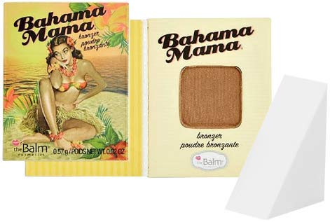 The Balm Cosmetics Bahama Mama Bronzer, Shadow & Contour Powder Travel Size (Free Cosmetic Wedge Sponge Included)