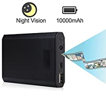 Hidden Spy Camera Power Bank 10000mAh Loop Recording & Motion Activated 2 Modes with Night Vision , Acetek HD 1080p Wireless Mini Nanny Camera , Video Recorder Monitor Home Security (No Wi-Fi, TF card not included)