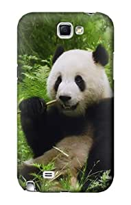 S1073 Panda Enjoy Eating Case Cover For Samsung Galaxy Note 2