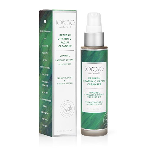 Jovovo Naturals Facial Cleanser New 5.9 fl.oz with Vit C, Rose Hip Oil and Camellia Extract