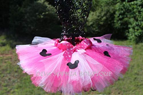 (Pink Minnie Mouse Tutu with Minnie)