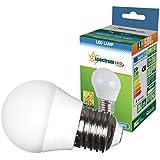 Spectrum E27 6W led golf ball 500 lumen (40W equivalent) cool white (5500-6500K) daylight wide beam angle (160 degrees) eco-friendly and energy saving led bulb