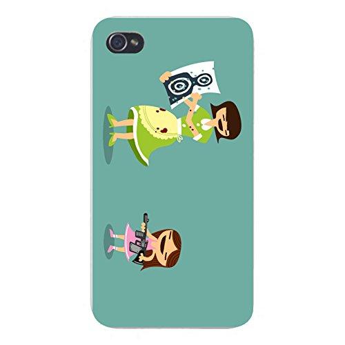 "Apple iPhone Custom Case 4 4S White Plastic Snap On - ""Good"