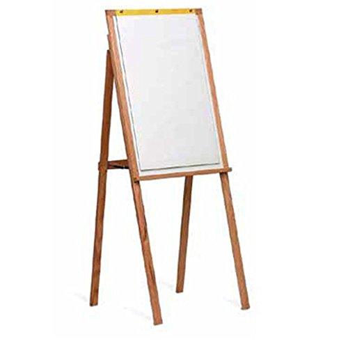 Marsh 64X24 White Remarkaboard markerboard Presentation Easel w/ flip charts, Oak Wood frame electronic consumers
