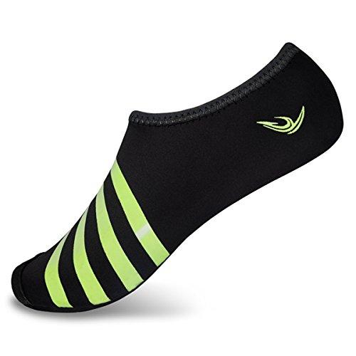 L-RUN Water Shoes Adult Beach Aqua Shoes Swimming Pool Footwear Black XXXL(M:10.5-11.5)