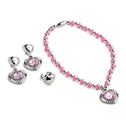 Pink Princess Jewelry Set for Girls