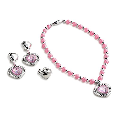 Pink Princess Jewelry Set for Girls By Dress Up America (Little Girls Dress Up)