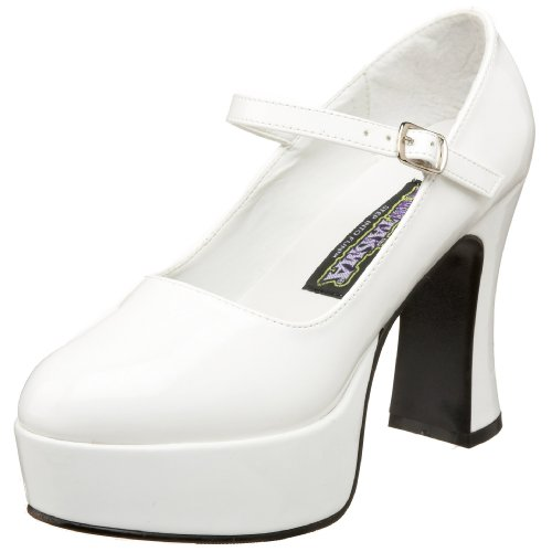 [Funtasma by Pleaser Women's Platform Mary Jane,White Patent,8 M] (Halloween Costumes Platform Shoes)