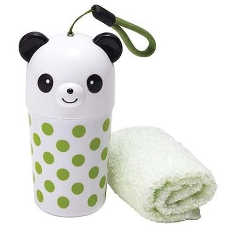 Set kawaii con toalla verde y estuche de oso panda de Japón: Amazon.es: Juguetes y juegos