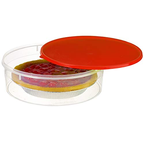 Zilpoo Plastic Pie Keeper with Lid, 10.5', Christmas Cupcake Carrier, Muffin,...