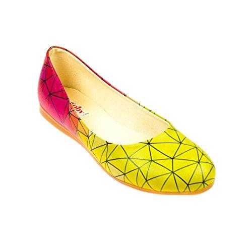 Ballerinas Yellow Red 1098 Prismas Shoes qAE8OTxwA