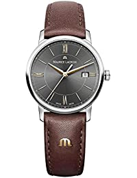 Women's 'Eliros' Quartz Stainless Steel and Leather Casual Watch, Color Brown (Model: EL1094-SS001-311-1)