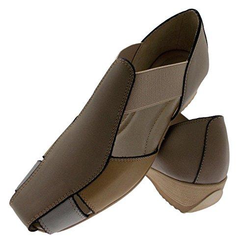 scarpa sandalo accollato elastico beige camel multi art 8967